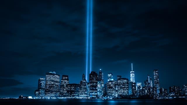 Tribute in Light zum Gedenken an die Opfer der Terroranschläge am 11. September 2001