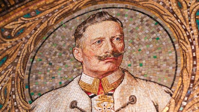 Kaiser Wilhelm II. auf einem Mosaik in der Erlöserkirche Gerolstein