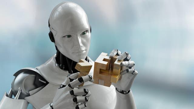 Roboter mit Geduldsspiel