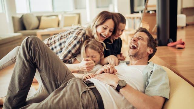 Familie hat Spaß