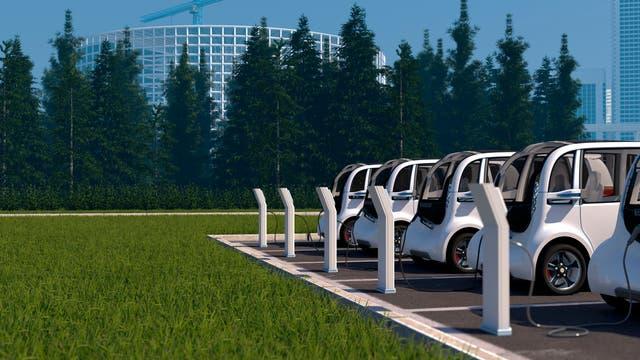 Ladende Elektroautos