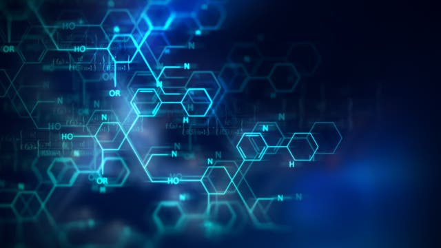 Moleküle in digitaler Ansicht