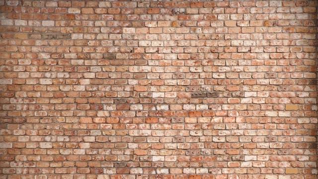 Wand aus Ziegelsteinen