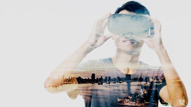 Blick durch die 3-D-Brille