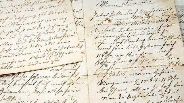 Historischer Brief in deutscher Sprache