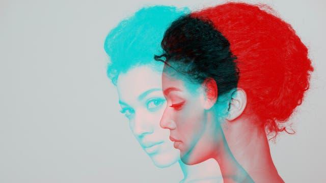 Frau in verschiedenen Farben