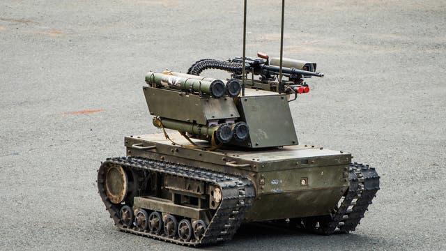 Russischer Kampfroboter vom Typ Platform-M