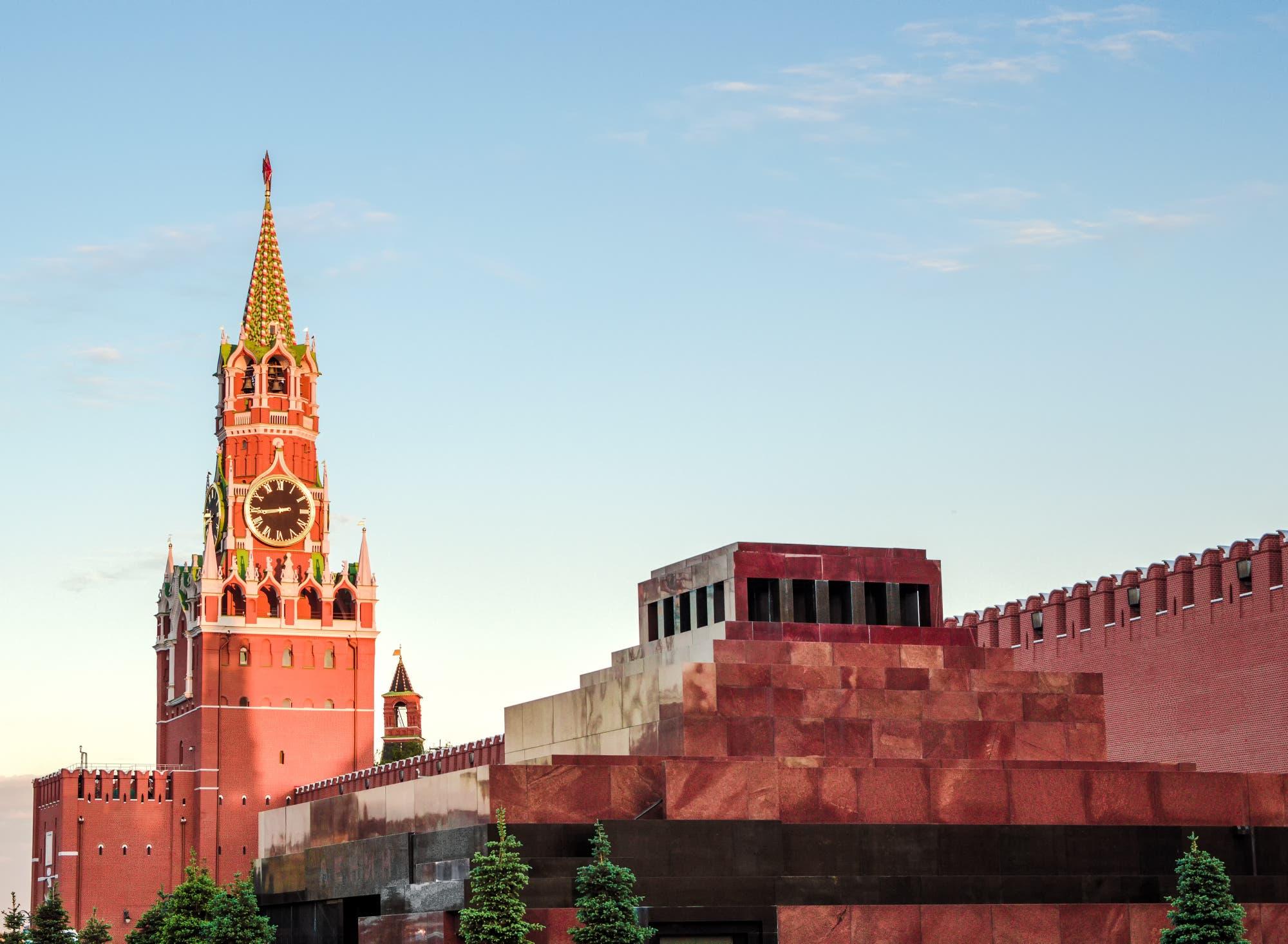 Lenins Mausoleum am Roten Platz in Moskau