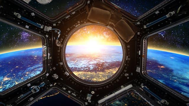 Blick aus einem konventionellen Raumschiff