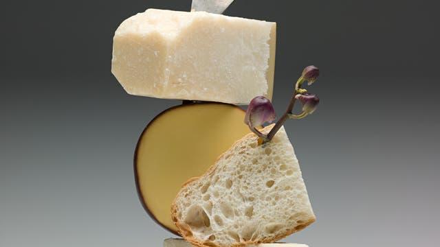 Dreierlei Käse hübsch angerichtet