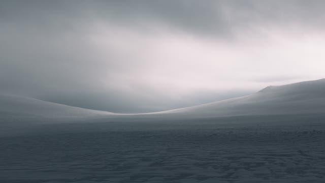 Winterlandschaft nördlich des Polarkreises