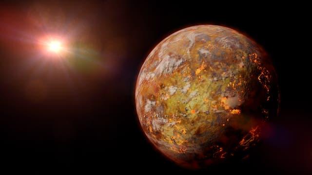 junger Exoplanet