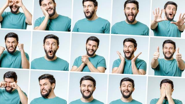 Mann Gesichter/Emotionen