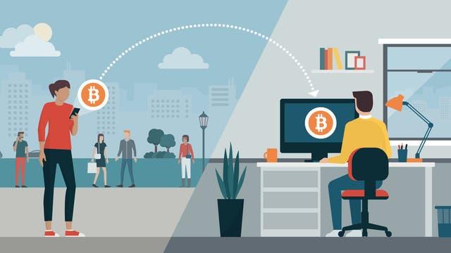 Virtuelle Transaktion mit Kryptowährung (Symbolbild)