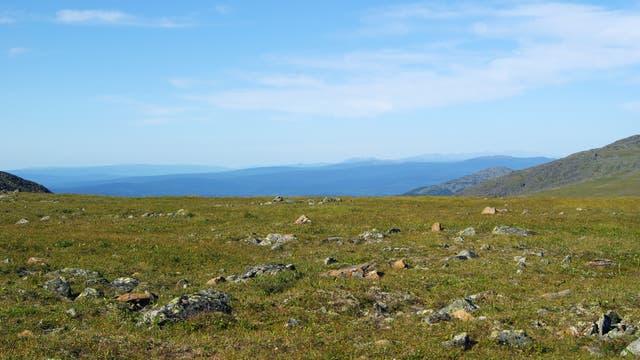 Mangels nennenswerter Bäume hat die Tundra meist einen weiten Horizont.