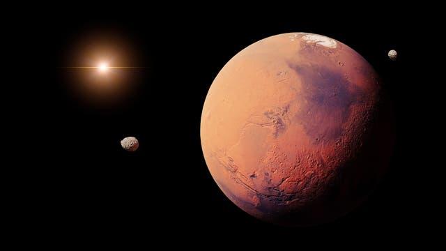Mars und seine Monde