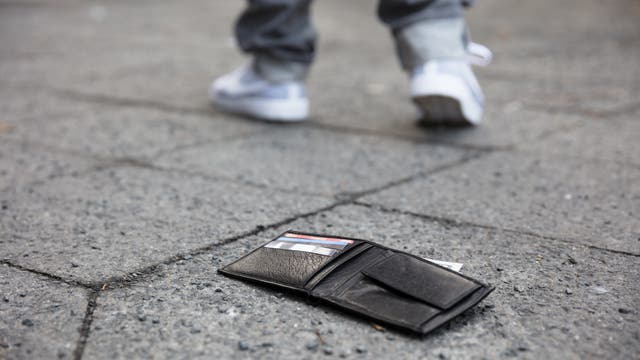 Verlorene Geldbörse