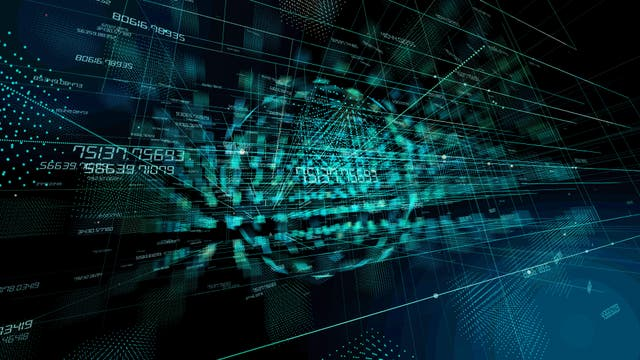 Künstlerische Darstellung der Computertechnologie