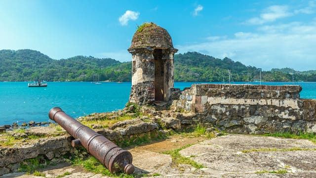 Spanische Festung in Portobelo, Panama (17.-18. Jahrhundert)