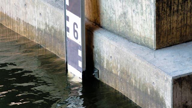 Pegel zeigt Hochwasser