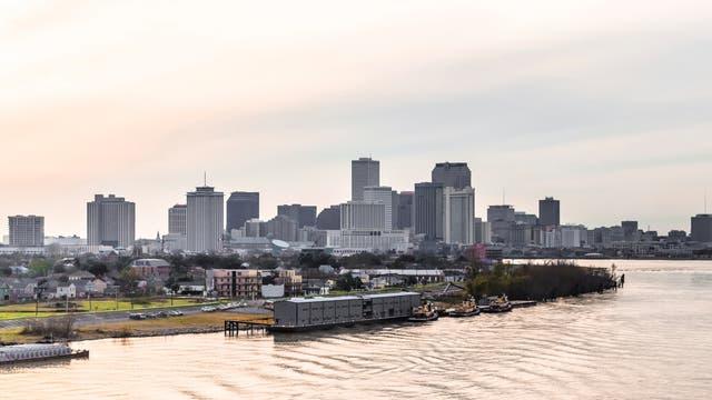 Die Stadt am Mississippi geht langsam unter