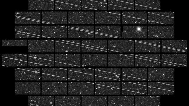 Rund 20 Satelliten hat die DECam des Cerro Tololo Inter-American Observatory (CTIO) kurz nach dem Start im November 2019 aufgenommen.