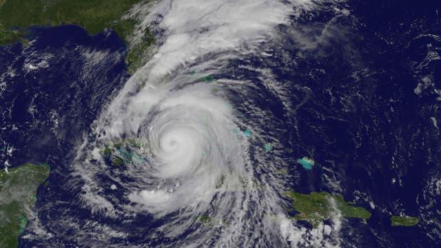 Hurrikan Irma im Jahr 2017 zwischen Kuba und Florida.