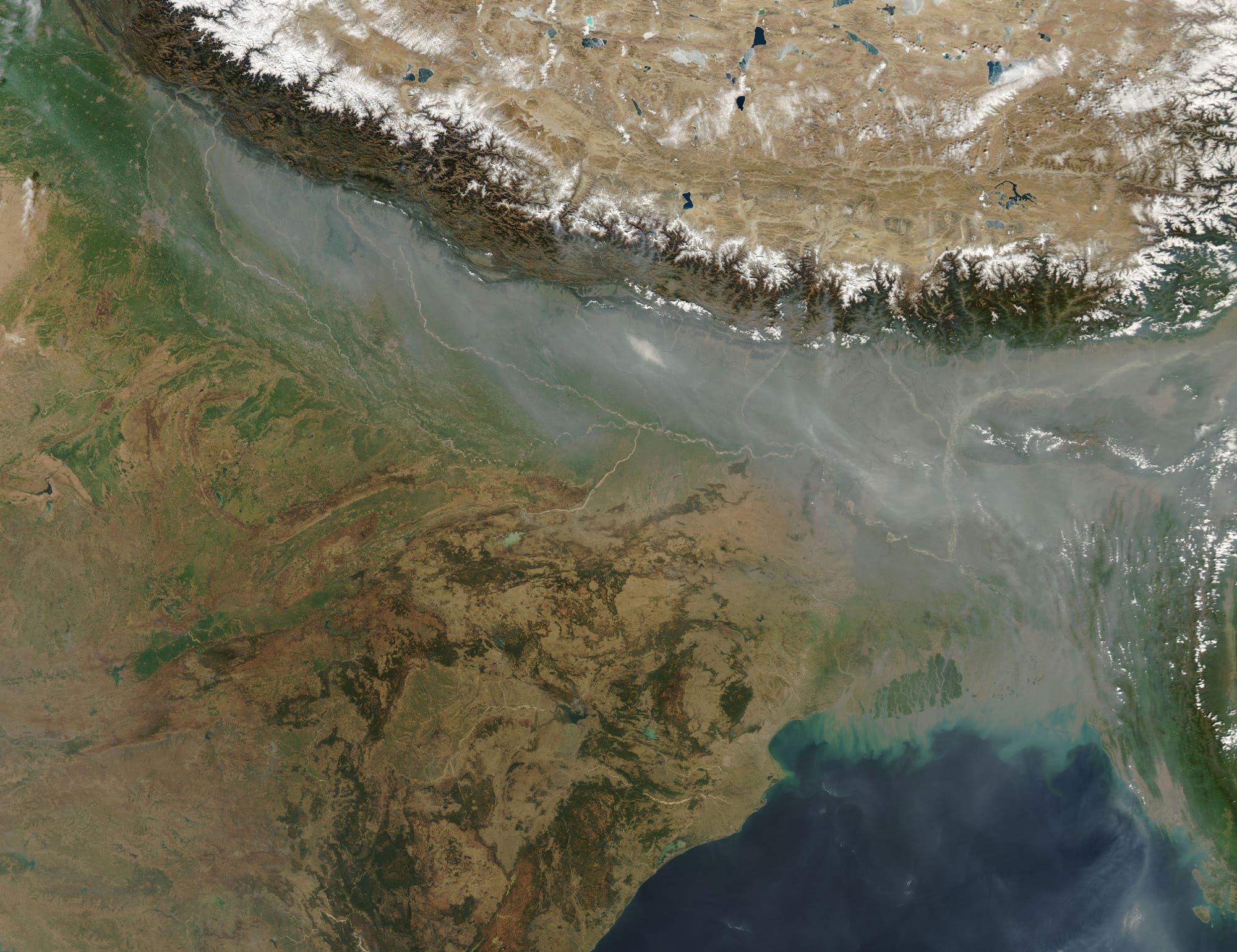 Haze über Nordindien