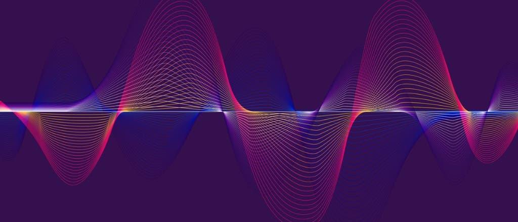 Mehrere Sinuskurven auf blauem Hintergrund. Nachdem sich unser Standard-Symbolbild für irgendwas mit Quanten (andere Sinuskurven, anderer Hintergrund) sich doch etwas abgenutzt hat, ist mal Zeit für ein Neues.