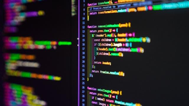 Javascript program in einem vscode code editor.