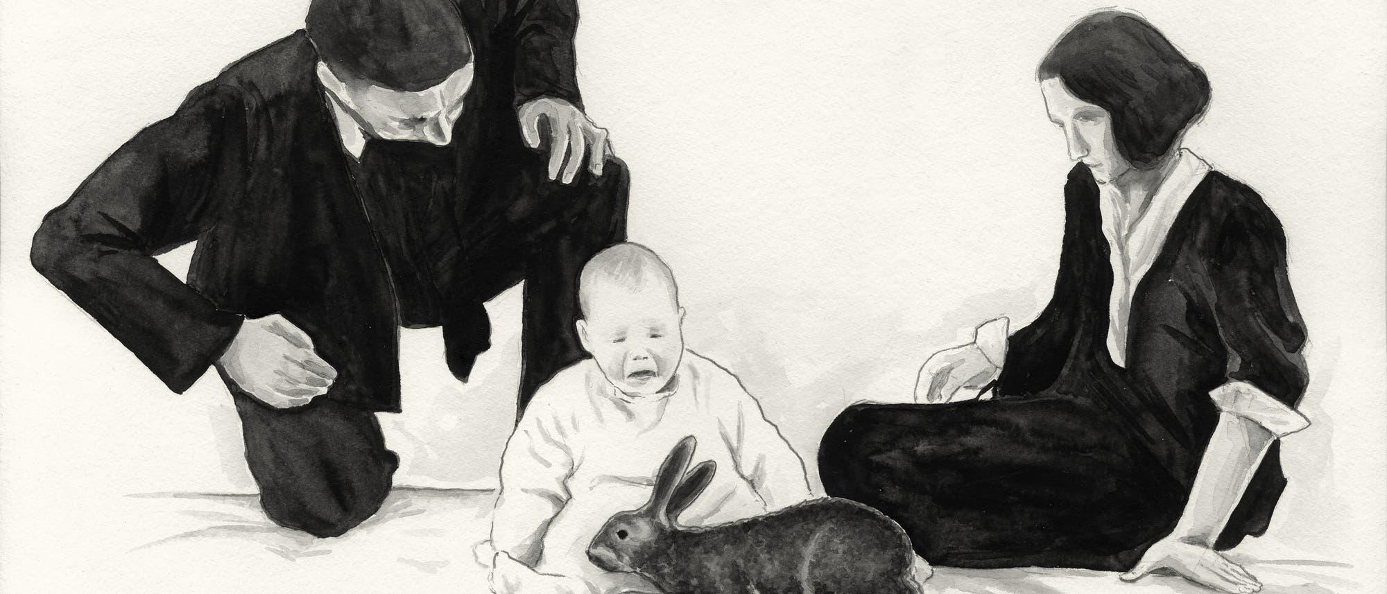 John B. Watsons berüchtigter Versuch mit dem knapp einjährigen Albert, den er darauf konditionierte, sich vor niedlichen Nagern zu fürchten.