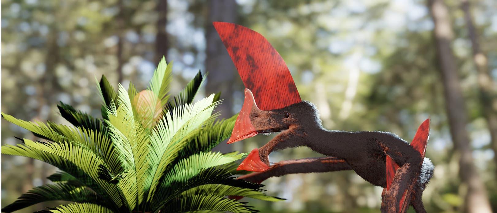Künstlerische Darstellung von Tupandactylus navigans