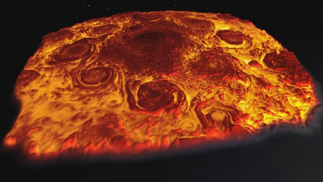 Jupiters glühender Nordpol