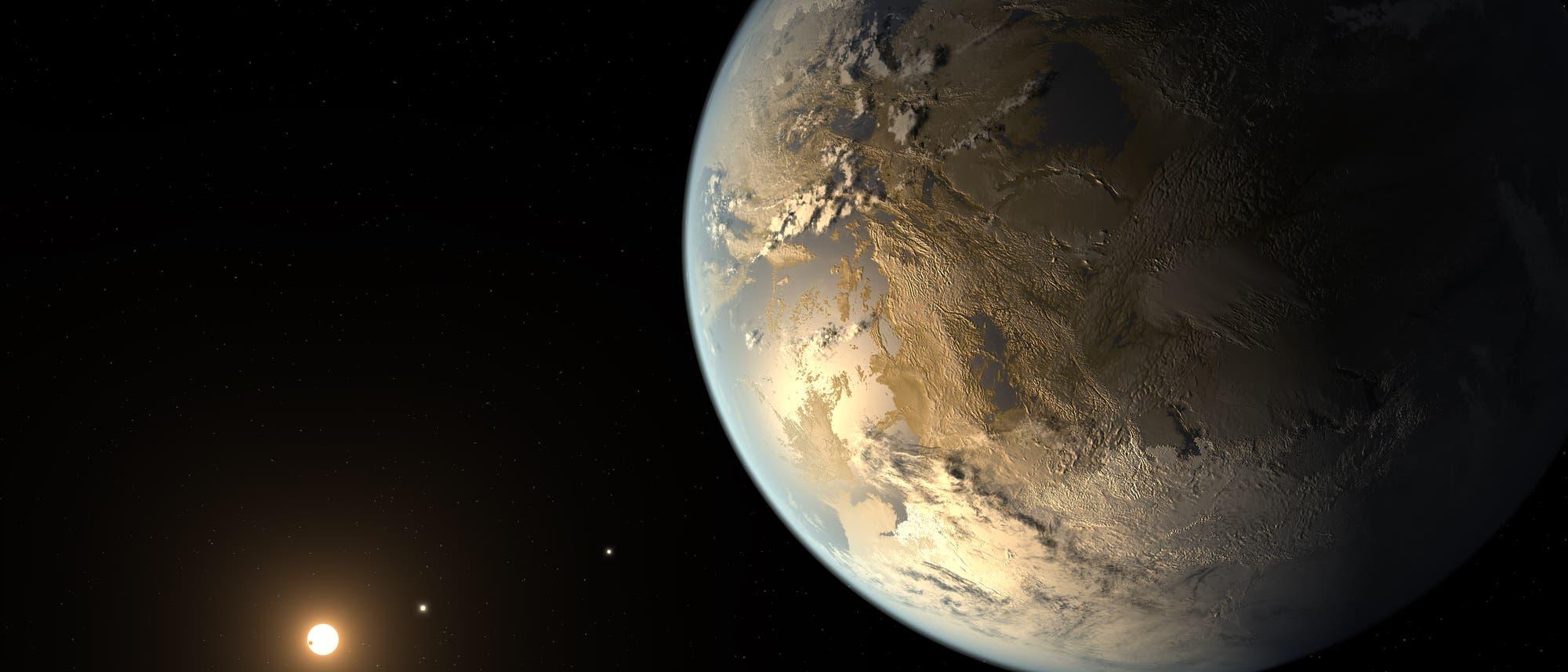 Kepler 186f - Künstlerische Illustration