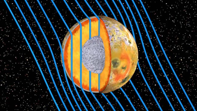 Das Innere des Jupitermonds Io