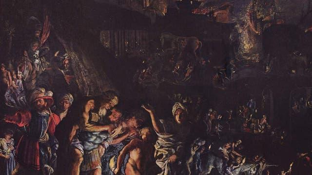 Gemälde Brand von Troja