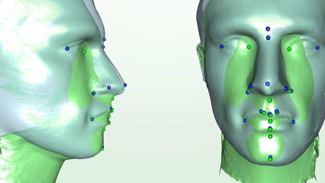 3-D-Aufnahmen mit vier Sensoren