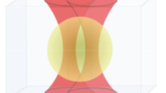 Mikrokugel in der optischen Falle