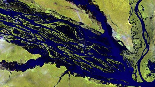 Flusslandschaft in Amazonien