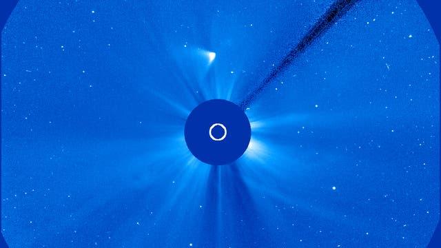 Komet ISON am 29. November 2013 um 07:30 Uhr MEZ