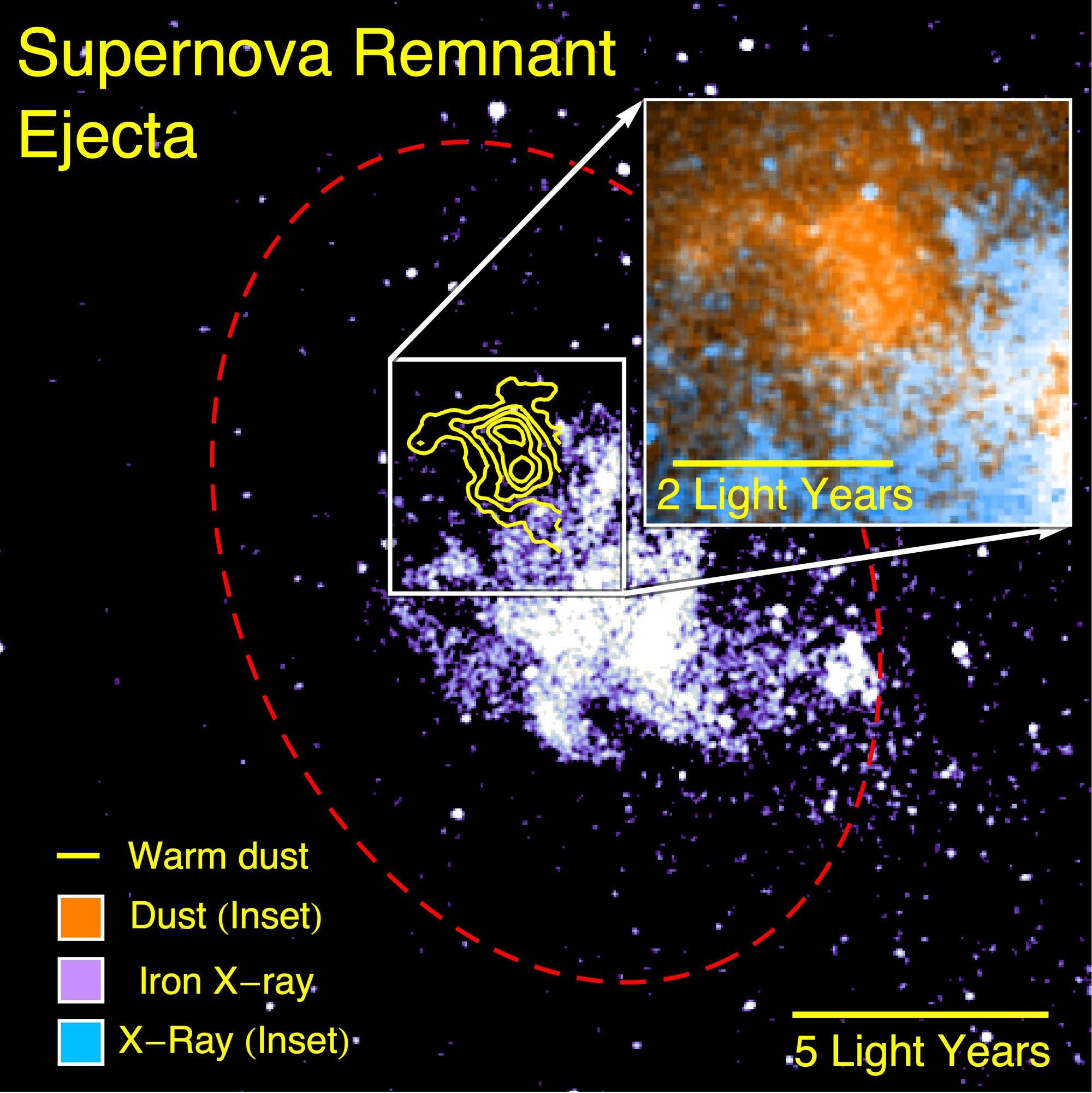 Der Supernova-Überrest SNR Sgr A Ost II