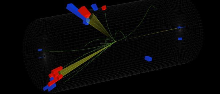 Teilchenspuren im CMS-Detektor