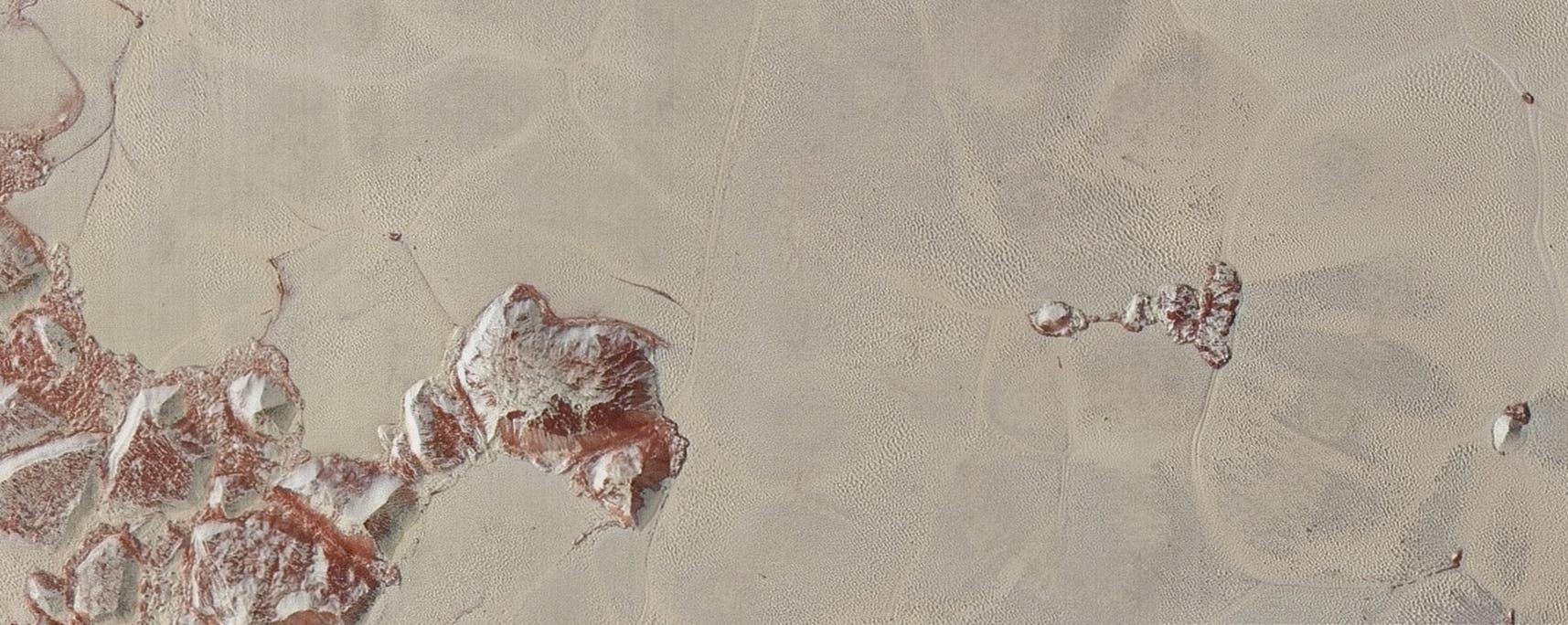 Detailansicht von Sputnik Planitia