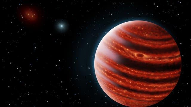 Der jupiterähnliche Exoplanet 51 Eridani b (künstlerische Darstellung)