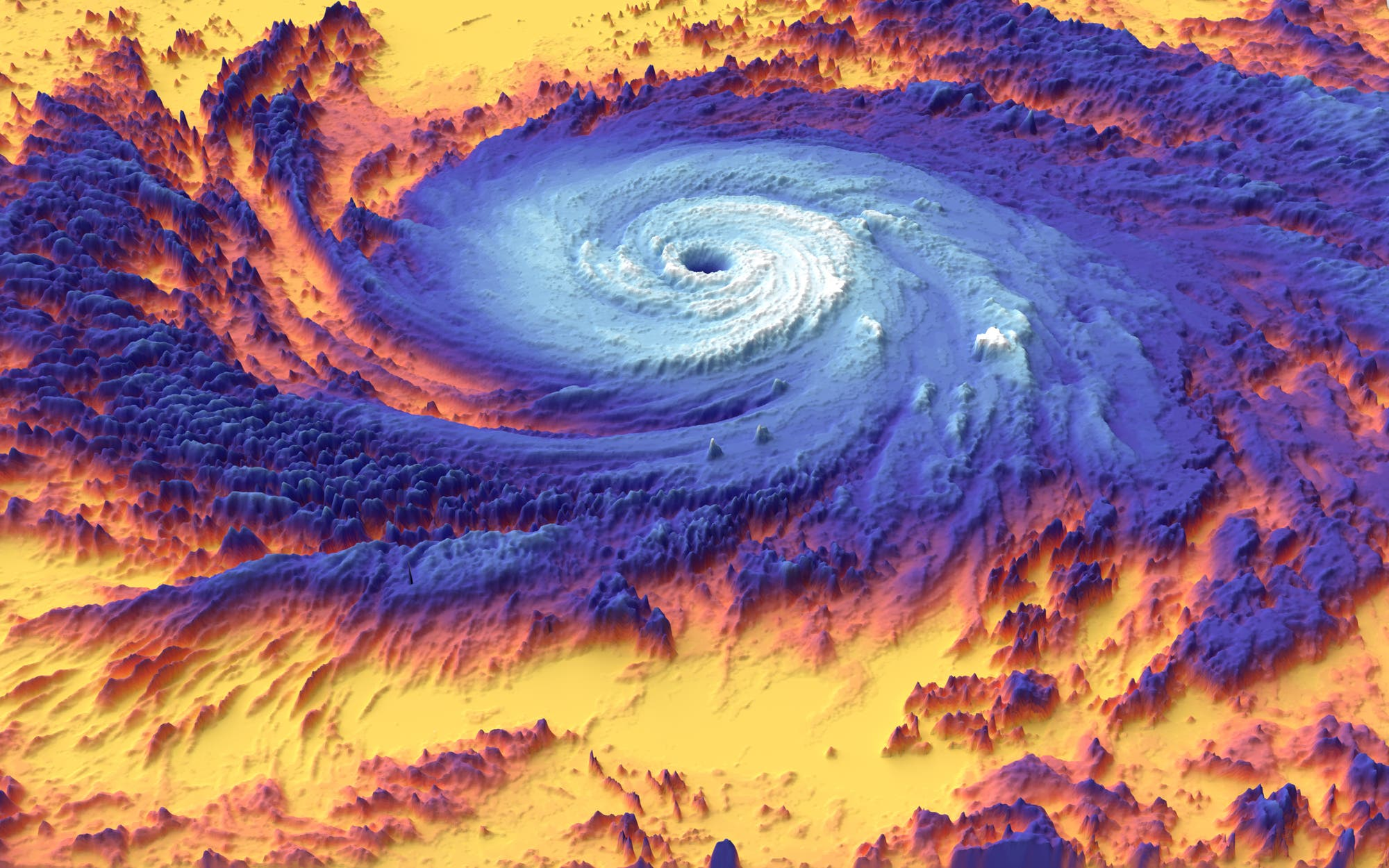 Hurrikan »Maria« im Thermobild