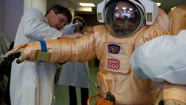 Test eines russischen Raumanzugs für die Mars500-Mission