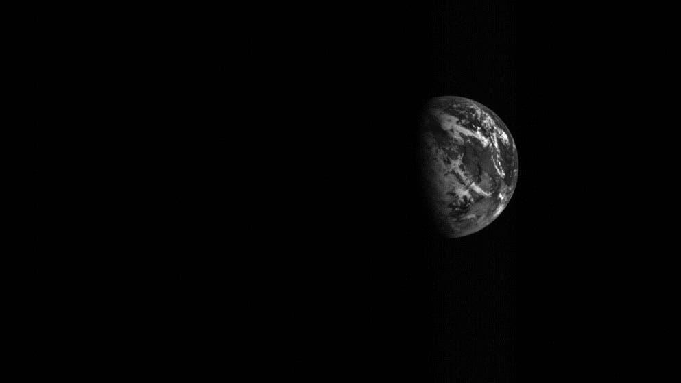 Die Erde am 3. Dezember 2015 aus der Sicht von Hayabusa-2