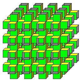 Polyeder aus unendlich vielen Quadraten