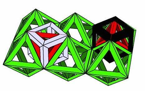Würfel in der Oktaeder-Tetraeder- Packung