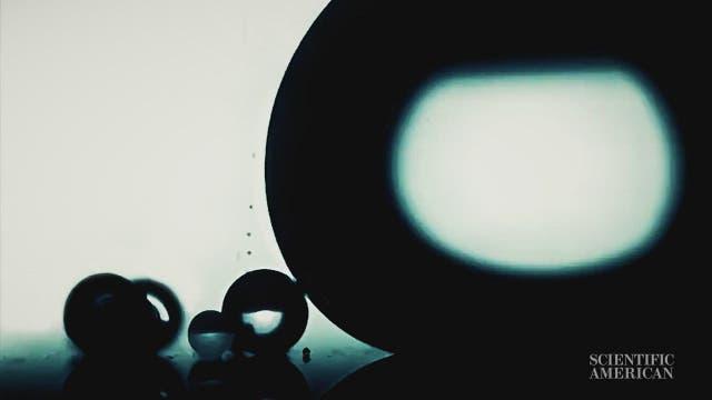 Mikroskopisch kleine Welt auf Film